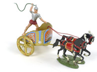 Hornung Art Heraldic Knights Roman Chariot with Two Horses and Driver 2HC