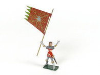 Hornung Art Heraldic Knights Geoffrey d' Charny, Oraflamme Flagbearer #121