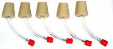 Hummingbird Feeder Stopper Tube Inserts -Make Your Own Feeders!  Pack of 5