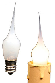 Creative Hobbies® Mini Country Style Silicone Dipped Candle Light Bulbs, 3 Watt -Pack of 10 Bulbs