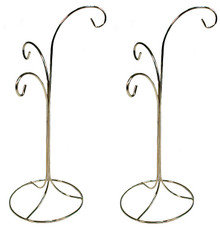 "Creative Hobbies® Ornament Display Stand Holder Hanger has 3 Hooks, 13"" Tall -Pack of 2 Stands"