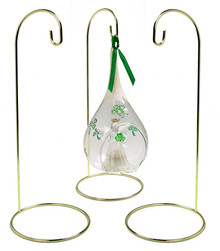 "Creative Hobbies® Metal Wire Ornament Stands Display Holder Gold Colored - 12"" High - Set of 3"