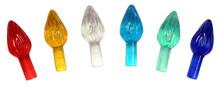 Creative Hobbies® Plastic Lites for Ceramic Christmas Trees, Medium Twist Light Ornaments, Multi Colors, 144 Piece Pack