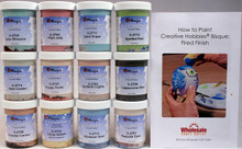 Mayco Crystalites Crystal Glaze for Ceramics - Set of 12 Colors in 4 Ounce Jars