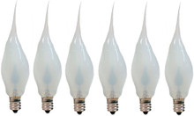 Creative Hobbies Silicone Dipped Flickering Flame Bulb, Country Style, Electric Candle Lamp Chandelier Light Bulbs, 3 Watt , Individually Boxed, Pack of 6 Bulbs