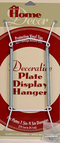 "WHITE PLATE DISPLAY HANGERS (7.5""-9.5"" PLATES) -6 PCS"