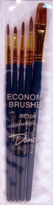 Duncan Ceramics 5 Piece Economy Ceramic Brush Set BB109