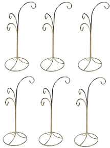 ORNAMENT DISPLAY STAND HOLDERS~w/ 3 HOOKS ~ LOT OF 6