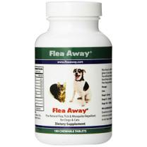 All Natural Flea Repellent for Dogs & Cats (100 ct Tablets) - Flea Away