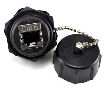 Cat6 industrial coupler jack
