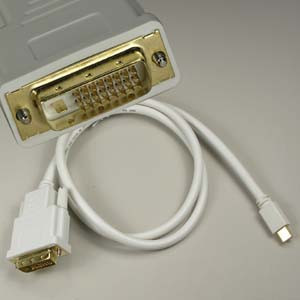mini displayport to dvi cable 3'
