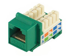Green Cat6 Keystone Jack