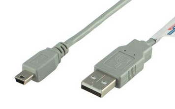 1' USB A to Mini B Cable