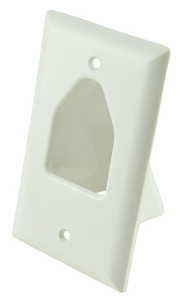 White Single Gang Bull Nose Wall Plate