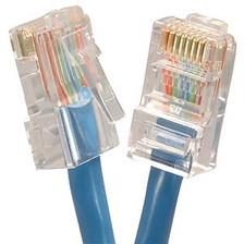 1' Blue Cat5e Patch Cable