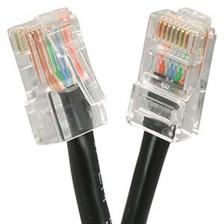 2' Black Cat5e Patch Cable