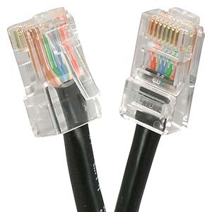 50' Black Cat5e Patch Cable