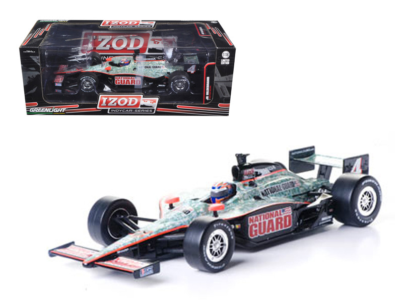 "2011 Izod Indy Car J.Hildebrand Jr. #4 Panther Racing \National Guard"" 1/18 Diecast Model Car by Greenlight"""""""