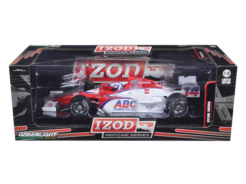 2011 Izod Indy Car #14 Vitor Meira A.J. Foyt Racing 1 of 1008 Produced Worldwide 1/18 Diecast Model Car by Greenlight