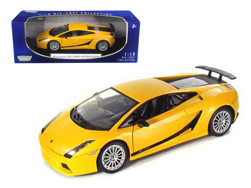 Lamborghini Gallardo Superleggera Orange 1/18 Diecast Model Car Motormax 73181