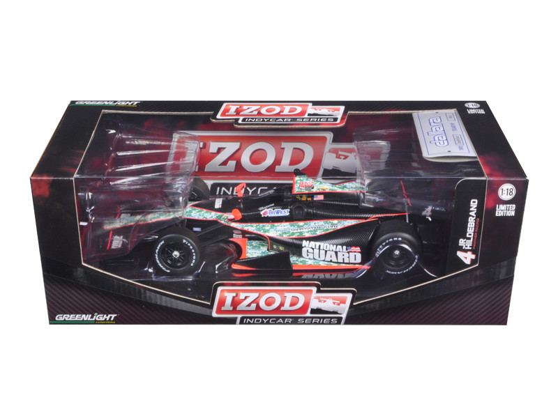 "2012 Izod Indy Car J.Hildebrand Jr. #4 Panther Racing \National Guard"" 1/18 Diecast Model Car by Greenlight"""""""