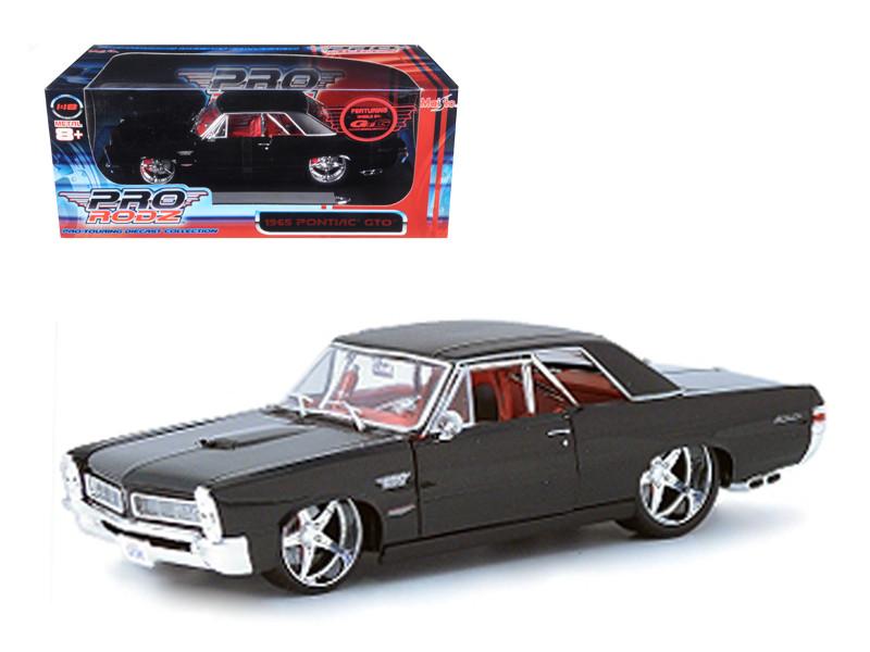 1965 Pontiac GTO Black Custom 1/18 Diecast Car Model by Maisto