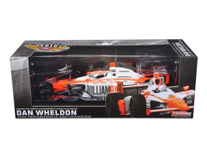 2011 Dan Wheldon #98 Bryan Herta Autosport Indy 500 Winner Car Tribute Edition Packaging 1/18 Diecast Model Car Greenlight 10926