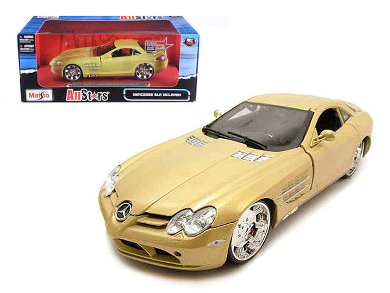 "Mercedes Mclaren SLR Gold \All Stars"" 1/18 Diecast Model Car by Maisto"""""""