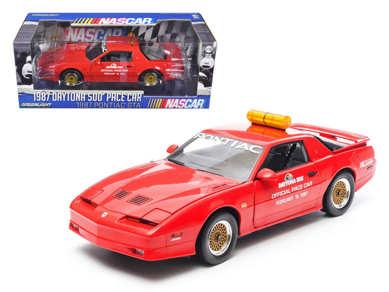 1987 Pontiac Firebird Trans Am GTA Daytona 500 Pace Car Nascar 1/18 Diecast Model Car by Greenlight