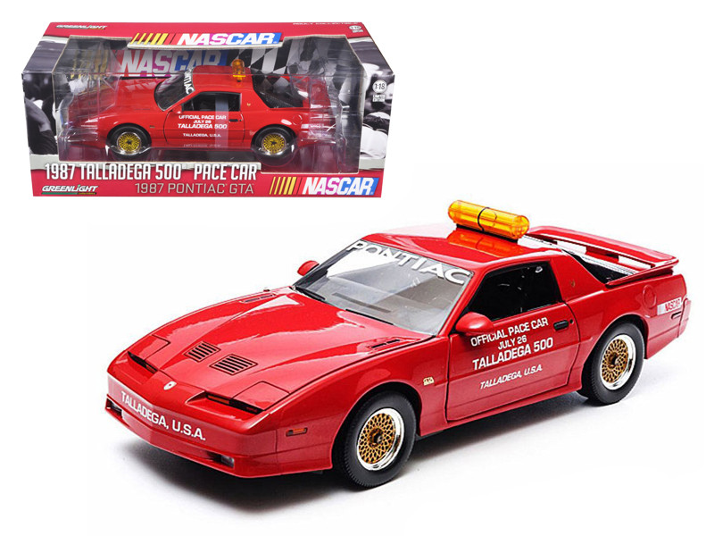 1987 Pontiac Firebird Trans Am GTA Talladega 500 Pace Car Nascar 1/18 Diecast Model Car Greenlight 12859