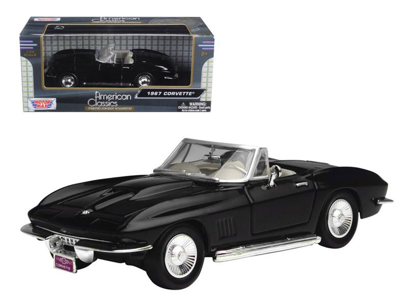 1967 Chevrolet Corvette Black Convertible 1/24 Diecast
