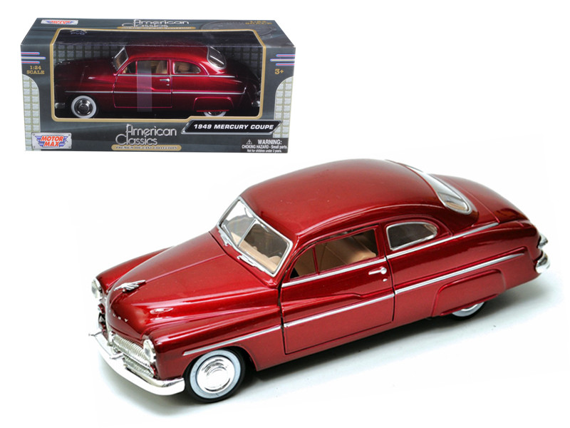 1949 Mercury Red 1/24 Diecast Car Model by Motormax
