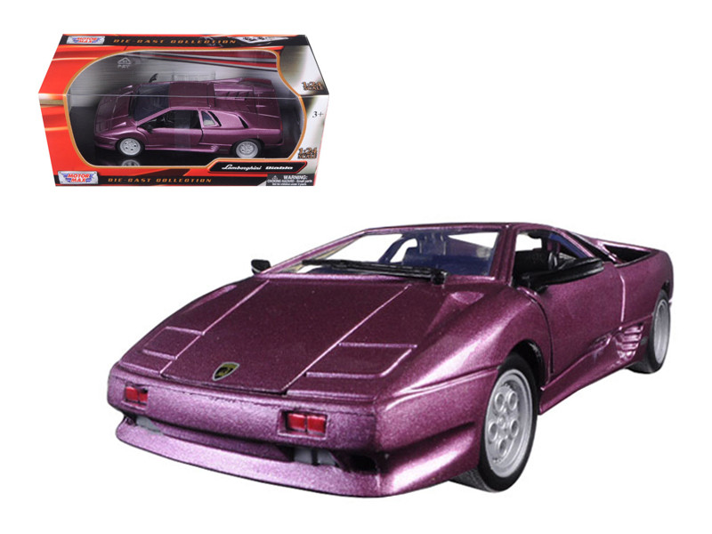 Lamborghini Diablo Purple 1/24 Diecast Model Car Motormax 73201