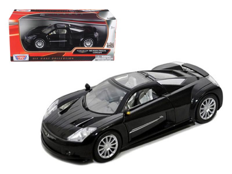 Chrysler Me Four Twelve Black 1/24 Diecast Car Model Motormax 73277