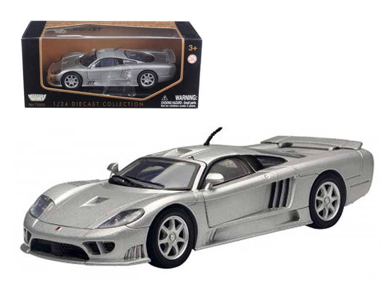 Saleen S7 Silver 1/24 Diecast Model Car by Motormax