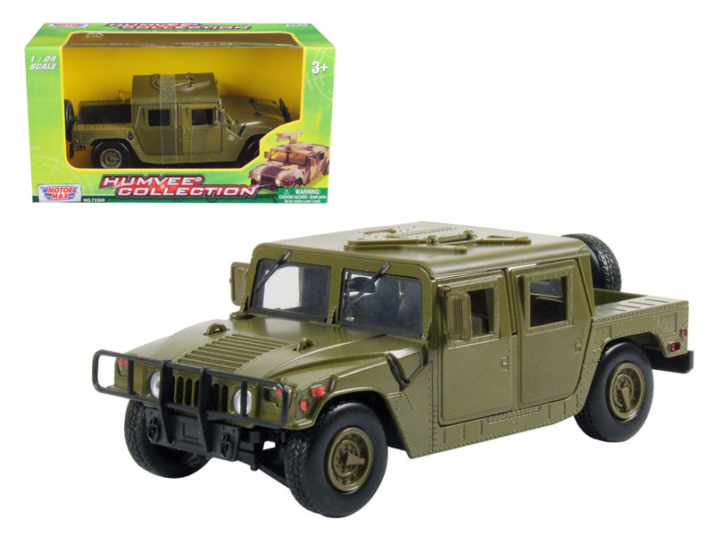 Humvee Military Cargo/Troop Carrier Green 1/24 Diecast Car Model by Motormax