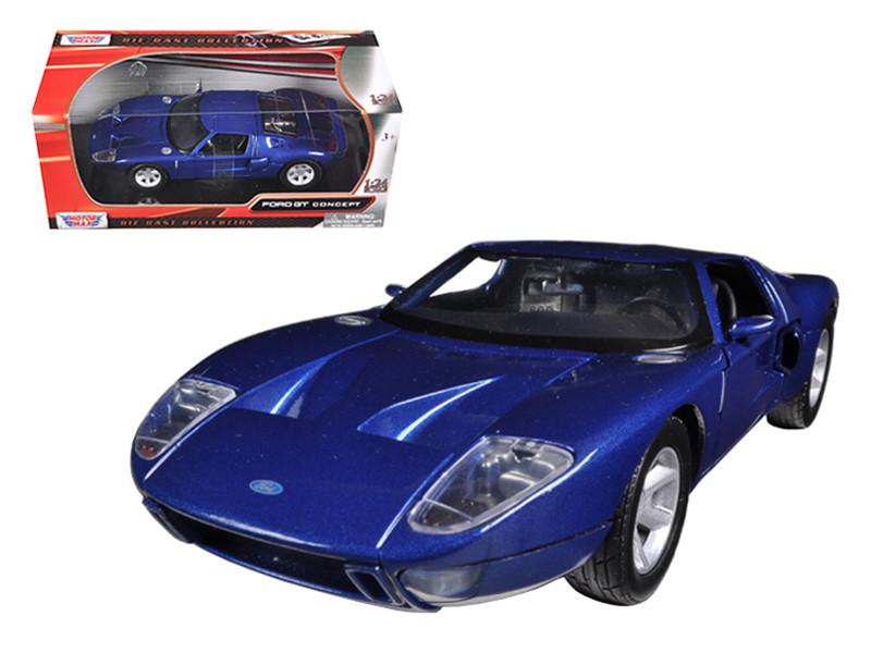Ford Gt Blue  Cast Car Model Motormax