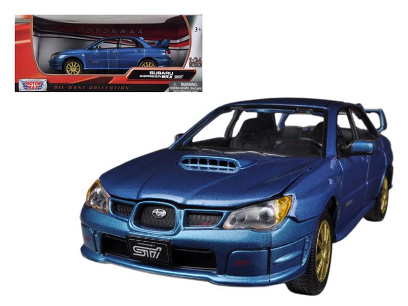 Subaru Impreza WRX STi Blue 1/24 Diecast Car Model by Motormax
