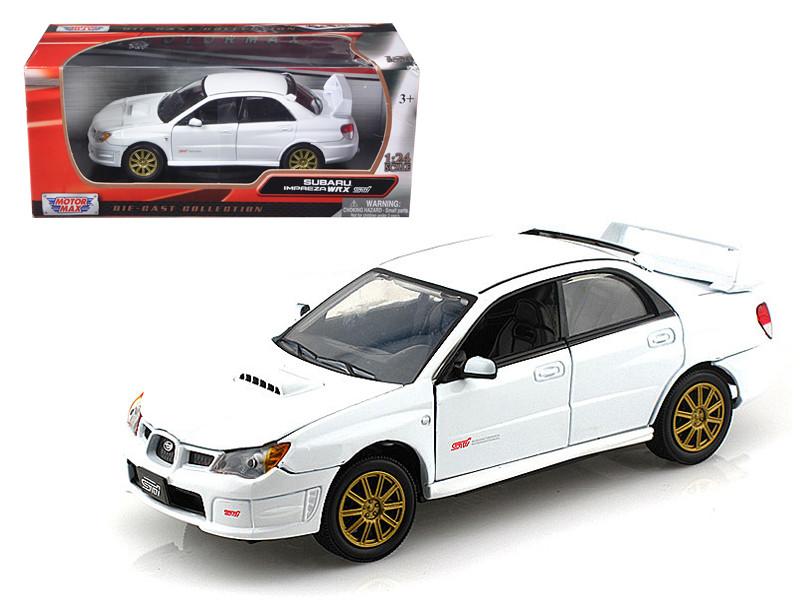 Subaru Impreza WRX STI White 1/24 Diecast Car Model by Motormax