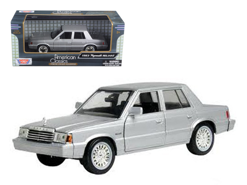 1983 Plymouth Reliant Silver 1/24 Diecast Car Model by Motormax