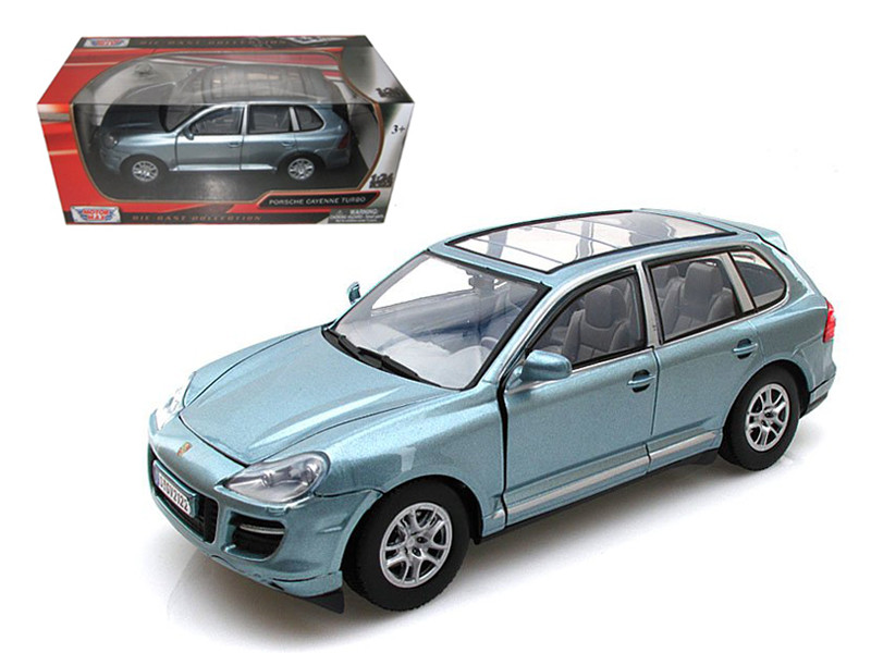 Porsche Cayenne Turbo Grey 1/24 Diecast Car Model by Motormax