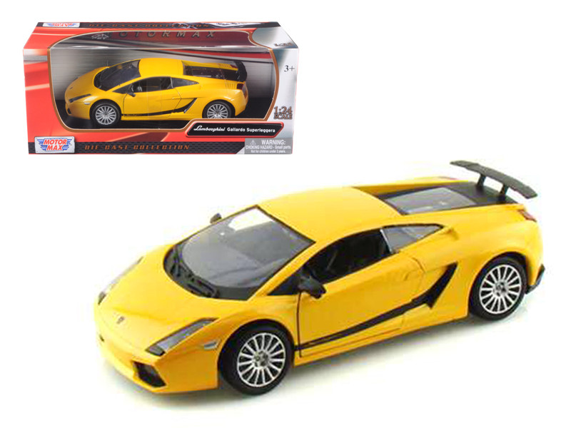 Lamborghini Gallardo Superleggera Yellow 1/24 Diecast Car Model Motormax 73346