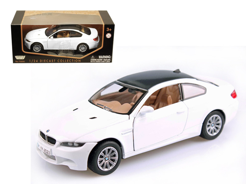 BMW M3 E92 Coupe White 1/24 Diecast Model Car By Motorm