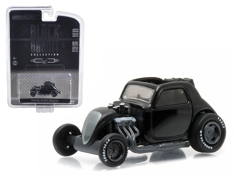 Topo Fuel Altered Dragster Black Bandit 1/64 Diecast Model Car Greenlight 27840 F