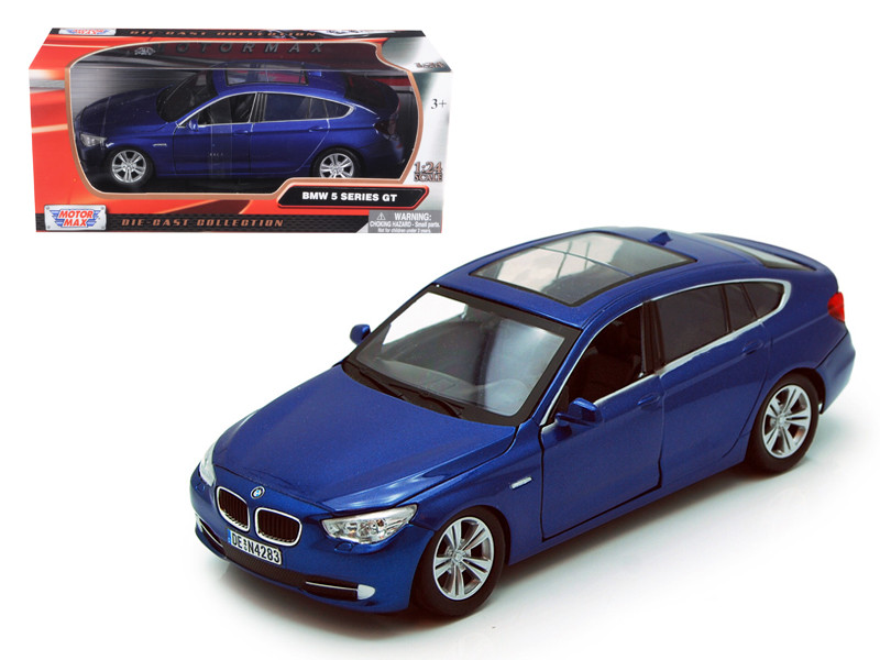 BMW 5 Series GT Blue 1/24 Diecast Car Model Motormax 73352