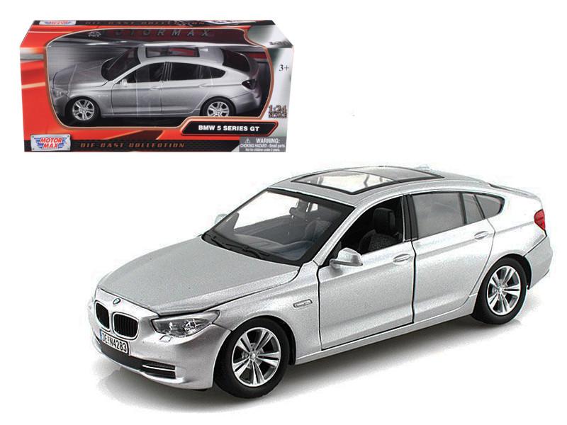 BMW 5 Series GT Silver 1/24 Diecast Car Model Motormax 73352