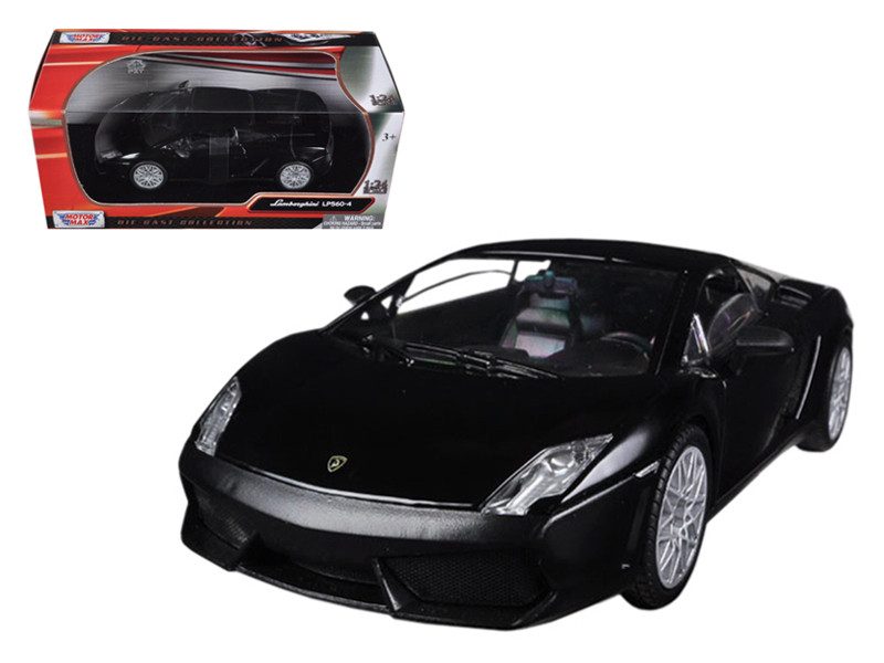 Lamborghini Gallardo LP-560-4 Matt Black 1/24 Diecast Car Model Motormax 73362