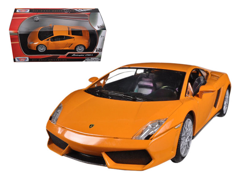 Lamborghini Gallardo LP-560-4 Orange 1/24 Diecast Model Car Motormax 73362