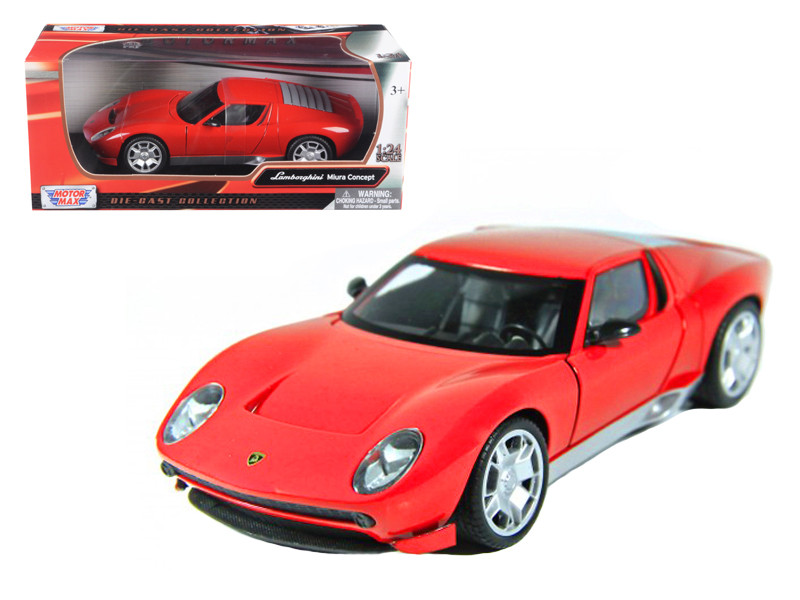 Lamborghini Miura Concept Red 1/24 Diecast Car Model Motormax 73367
