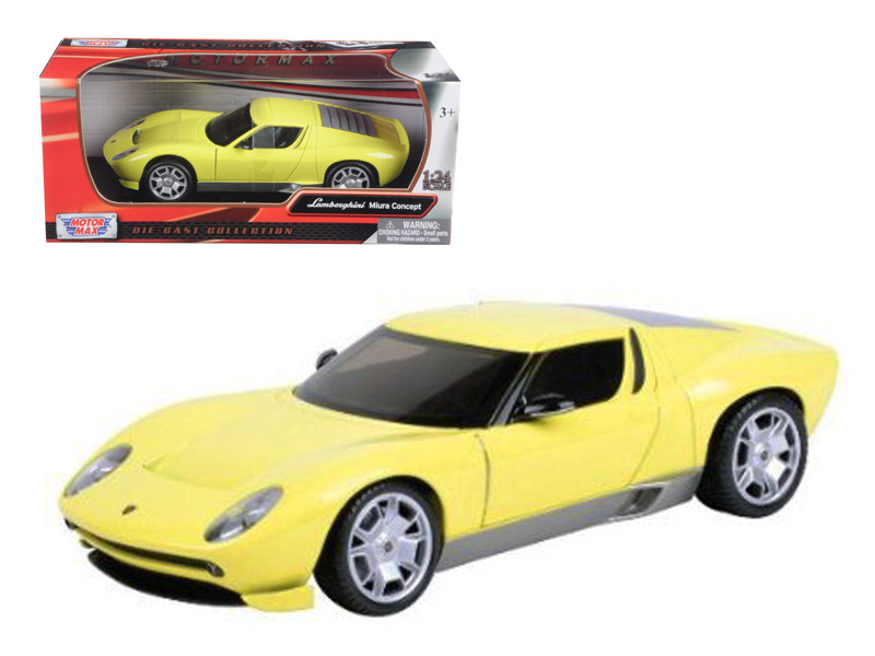 Lamborghini Miura Concept Yellow 1/24 Diecast Car Model Motormax 73367